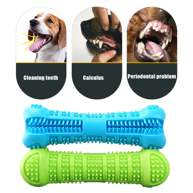 Silicone Bone Shape Pets Dog Toothbrush Chew Toys Puppy Teeth Cleaning Popular Toys Petshop Small Dogs Mouth Teeth Care Products