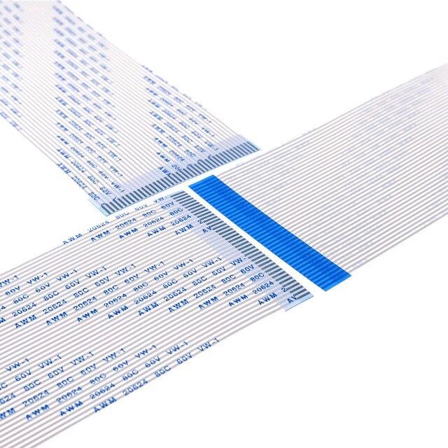 20 قطعة FFC الشركة العامة للفوسفات مرنة سلك مسطح 1.25 مللي متر الملعب 40 دبوس 100 120 150 200 300 450 550 مللي متر نفس الاتصال الجانبين نوع إلى الأمام