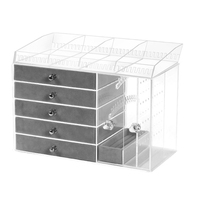 Transparent Acrylic Earring Stand Shelf Jewelry Storage Box Display Ear Stud Jewellery Stand Storage Case