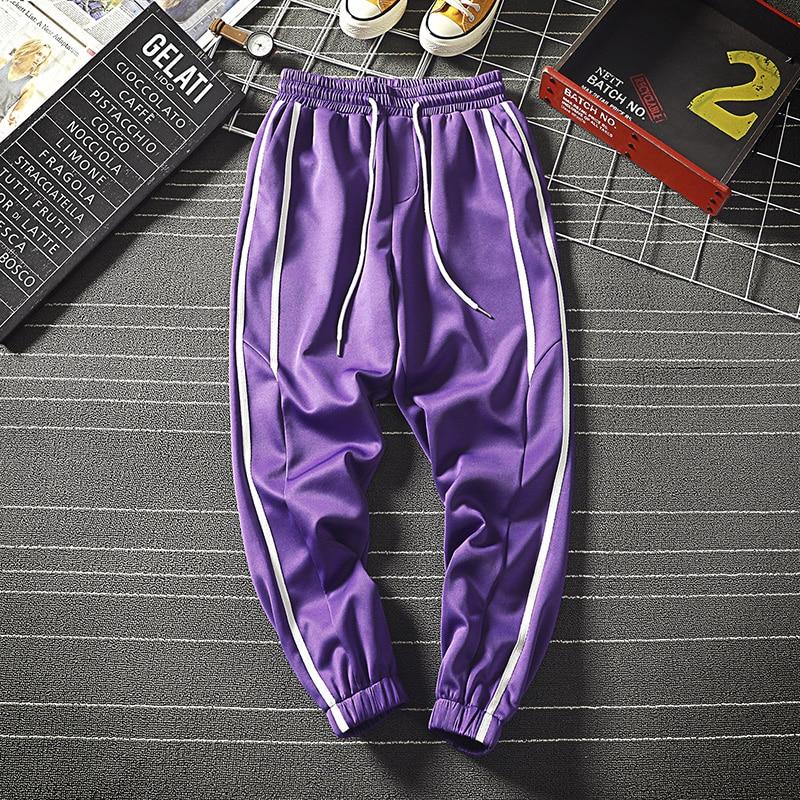 Loldeal Hip Hop Pants Men Sportwear Loose Streetwear Mens Casual Pant Boys Side Stripe Design Men's Joggers Trousers 3XL-M