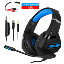 For PS4 Gamer Headphones Computer Gaming Headset 7.1 Stereo Deep-Bass with Microphone Music Helmet PC Cosque For Phone Laptop gift candy colored headphones headband earphone stereo music headset with microphone for pc phone