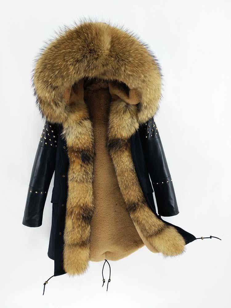 Women Leather Streetwear Sleeves 44