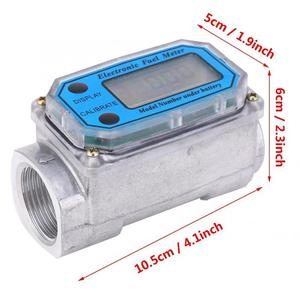 Image 4 - Ferramentas líquidas da medida do fluxo de água do contador do sensor do indicador do npt do verificador de combustível 15 120l da turbina digital para o fluxo de combustível