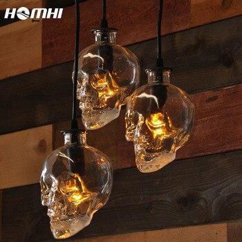 Barra de iluminación con forma de calavera para Halloween, barra de cristal...