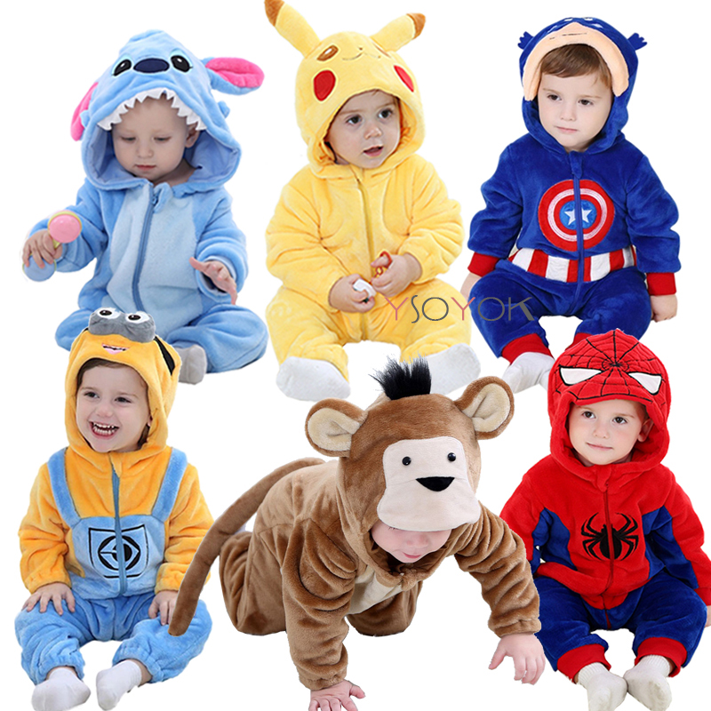 Baby   rompers   boy girl clothes new born baby costume jumpsuits Infant onesies winter stich pajamas roupas de bebe recem nascido