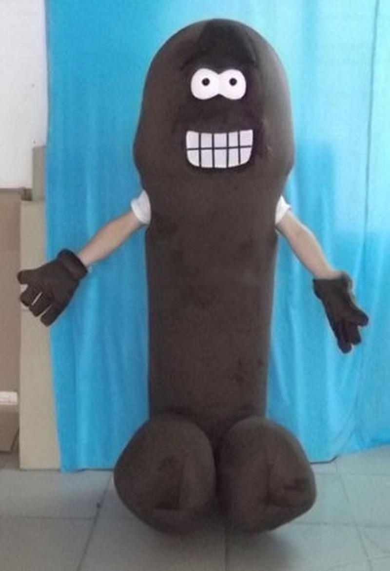 new Brown Penis Adult Penis Mascot Costume Parade Birthday Suit Cosplay Outfit Party  Inflatable Costume Halloween Gifts