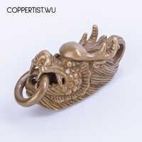 Coppertist. Wu oryginalny chiński jednorożec w mitycznych dzikich zwierząt mosiądz figurka metalowe breloczki breloki samochodowe chiński Kylin Pendan