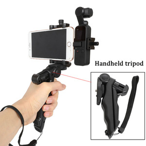 Image 5 - Vlog Cell Phone Clip Bracket Desktop Tripod Fixed Holder Stand Mount for DJI Osmo Pocket Handheld Gimbal Camera Accessories Set