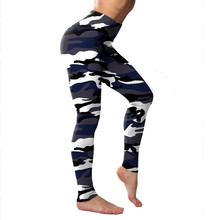 New Camouflage Printed Leggings Polyester Elastic Women Fitness Push Up Sporting Leggins Plus Size Female