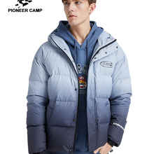 Pioneer Camp Fashion Gradient Down Jacket Men Brand Clothing