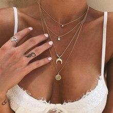 Многослойное ожерелье ZHOUYANG для женщин, ожерелье в стиле бохо, ракушки, морские звезды, светильник-золотистый цвет, чокер, модные ювелирные и...
