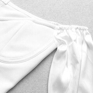Image 5 - Vc 2020 tudo frete grátis sexy fora do ombro mangas compridas ganchos design celebridade festa bandagem mini vestido