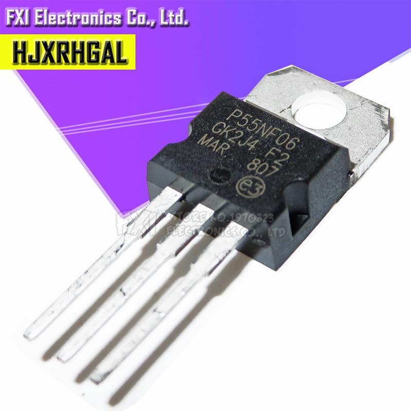 20PCS STP55NF06 TO-220 MOSFET N-CH 60V 55A TO-220 P55NF06 TO220 Transistor