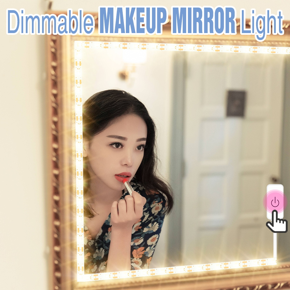 5M Vanity Mirror Light Led Dressing Table Makeup Lamp USB Touch Dimmable Bathroom Mirror Wall Light Decor Cosmetic Beauty Lamp