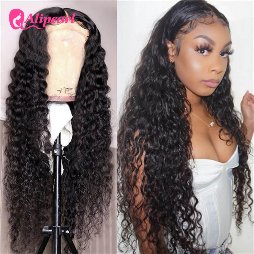 AliPearl Loose Deep Wave Lace Front Human Hair Wigs 130 150 180 Density Pre Plucked Brazilian Hair Wigs Remy Natural Color
