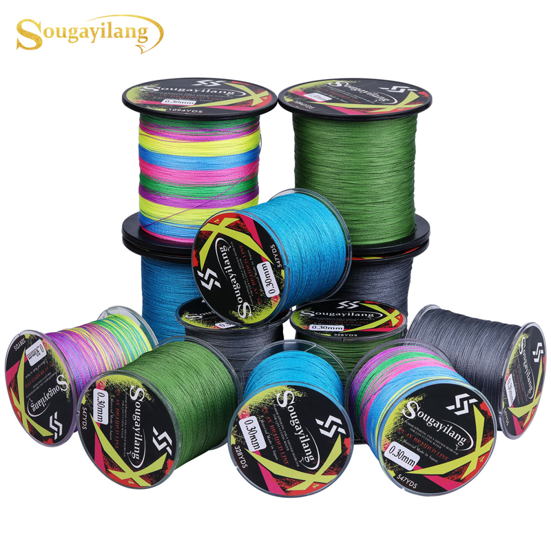 Sougayilang New 300M/400m/1000m PE Fishing Line 4 Strands Braided Fishing Line  Multifilament Fishing Line Smooth Pesca|  - title=