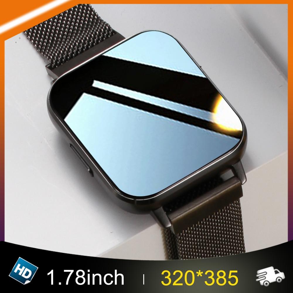 """Neue DT-X Smart Uhr Männer Ekg 320*385 1.78 """"Hd IP68 Wasserdichte Smartwatch Frauen 24 Stunden Herz Rate überwachung Für Android IOS"""