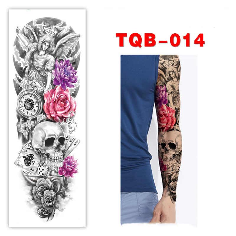 กันน้ำชั่วคราว Tattoo สติกเกอร์ Tribal totem band Fake Tatto บุคลิกภาพแฟลช Tatoo เอวแขนเอวเท้า Tato สำหรับสาวผู้หญิงผู้ชาย