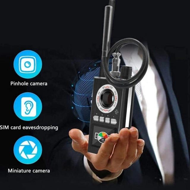 AI Intelligent Upgrade Wiretap Anti Spy Bug Detector Mini Hidden Camera GSM GPS Tracker Eavesdropping Finder 4