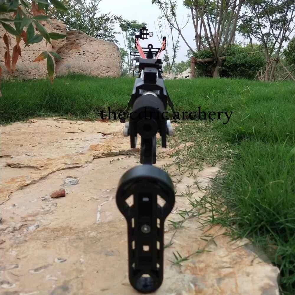 Puissant catapulte chasse fronde fusil Double dispositif de sécurité en acier inoxydable Support de vue 12BB balle tir en plein air