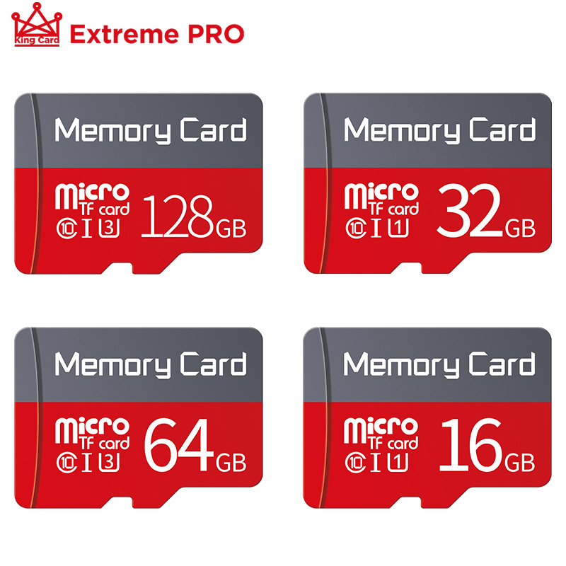 Micro SD карта 8 ГБ 16 ГБ 32 ГБ 64 Гб 128 Гб класс 10 Флэш-карта памяти MicroSD TF карта 32 ГБ флэш-накопитель Micro sd 64 ГБ Бесплатный адаптер