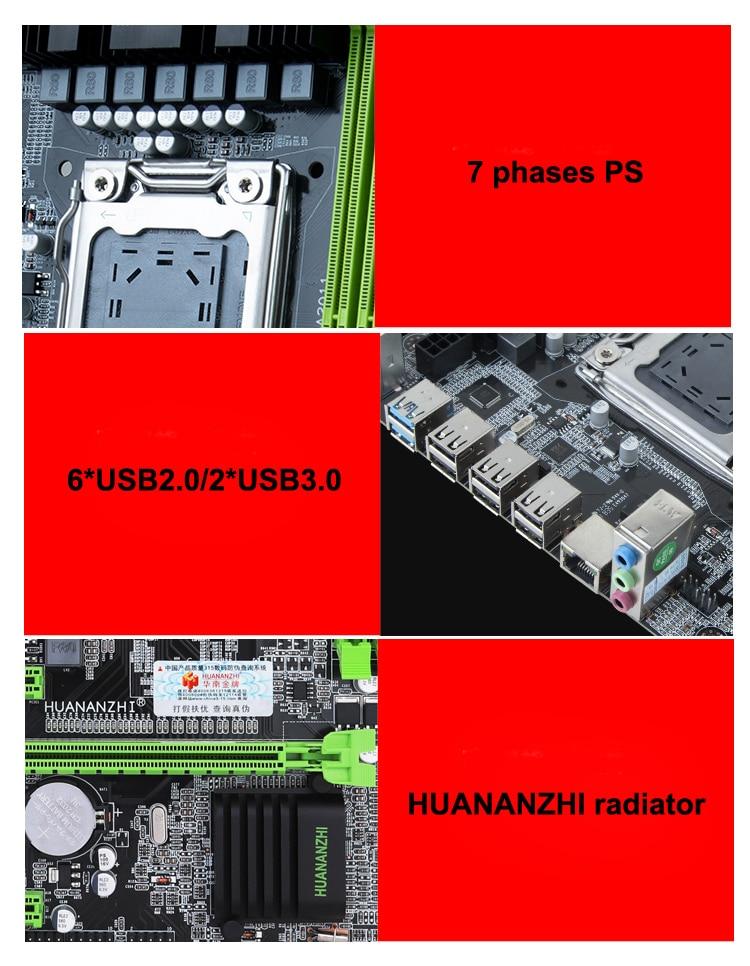 Купить с кэшбэком HUANANZHI M-ATX X79 Motherboard with CPU Intel Xeon E5 2640 SROKR 2.5GHz RAM 8G DDR3 REG ECC Best Combo on Sale