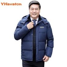YHavaton Winter Down Jacket Men Fashion Hooded Down