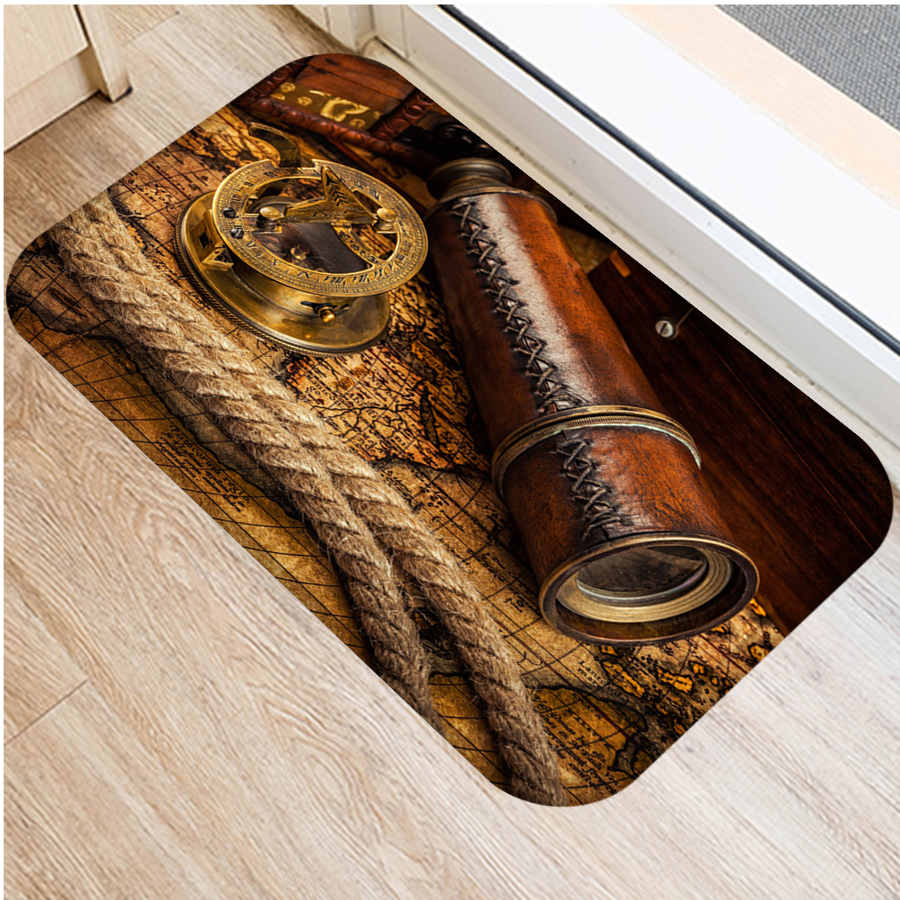 Image 4 - Classic Clock and Watch Style Interior Entrance Mat Non slip  Kitchen Mat Bathroom Non slip Mat Home Bedroom Floor Mat 40x60cm  .Rug