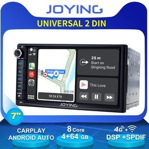 "Image 1 - 7 ""כפול 2Din אוקטה Core אנדרואיד 8.1 ראש יחידת רכב האוניברסלי רדיו סטריאו מולטימדיה GPS לא DVD נגן מובנה 4G מודם DSP"