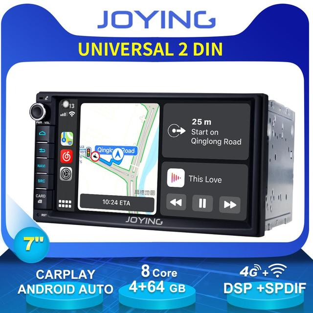 """7"""" Double 2Din Octa Core Android 8.1 Head Unit Universal Car Radio Stereo Multimedia GPS No DVD Player Built in 4G Modem DSP"""