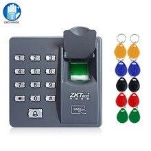 RFID ลายนิ้วมือคีย์ Biometric เครื่องอ่านลายนิ้วมือระบบ Access Controller แป้นพิมพ์รหัสผ่าน + 10pcs Keyfobs