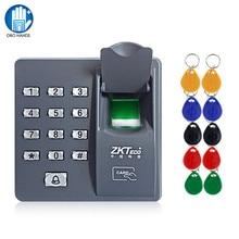 Rfid impressão digital controle de acesso teclado biométrico leitor impressão digital sistema controlador acesso teclado senha + 10pcs keyfobs