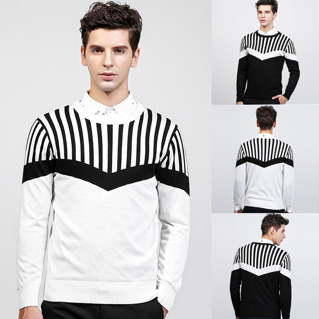 Men's Casual Long Sleeve Knitting Hoodie Sweaters Tops Blouse M-2XL Plus Size Autumn Winter Pull Homme Sweter Pullover Men