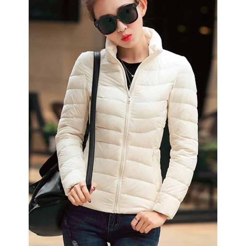 ZOGAA Winter Women Parkas Warm Short Coat Ultra Light Cotton Padded Jacket Female Slim Fit Solid Zipper Portable Overcoat 2019