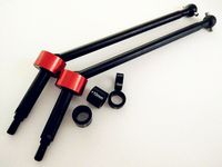 Harden Steel CVD Driveshafts +15mm For RC Model Truck HPI SAVAGE XL # 86246 & # 86249