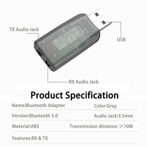 Image 5 - DISOUR 5.0 USB الصوت جهاز إرسال بلوتوث استقبال للتلفزيون سيارة 3.5 مللي متر AUX ستيريو Musci 2 في 1 لاسلكية محول Aptx USB دونغل