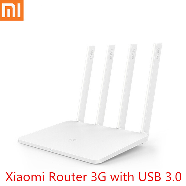 Original Xiaomi Mi WiFi Router 3G 1167Mbps 2.4GHz 5GHz Dual Band 256MB ROM Wi-Fi 802.11ac Four Powerful High-Gain Antennas title=