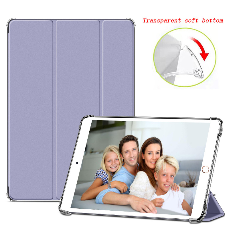 Lavender 1 Gold 2020 case For iPad 10 2 inch 8th 7th Generation model A2270 A2428 Silicone soft bottom
