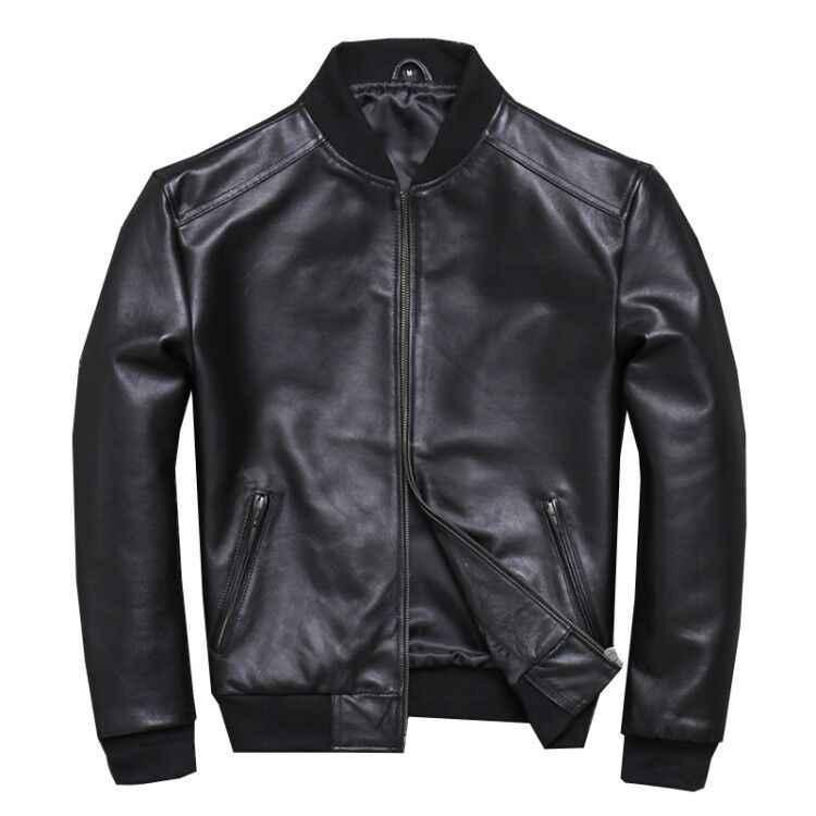 2020 망 양피 코트 정품 가죽 남성 봄 가을 플러스 크기 가벼운 폭격기 재킷 U-352 KJ2282