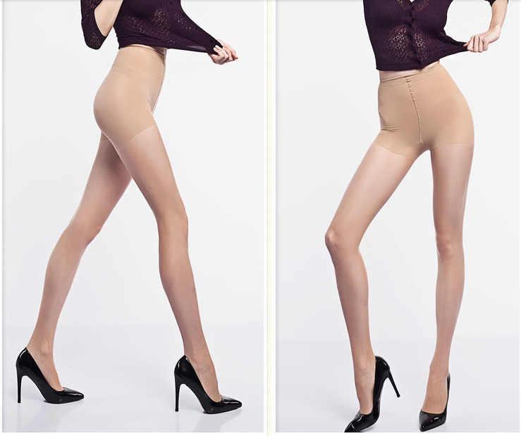 Dames 15D Scheurbestendig Nylon Panty Vrouwen Zomer Sexy Ademend Elastische Panty Slim Kousen Hoge Taille Zon Bescherming