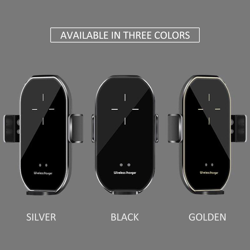 A7 versão atualizada titular do carro carregador sem fio 10w carga rápida infravermelho detecção automática suporte do telefone móvel acessórios do carro