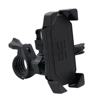 Bicycle And Motorcycle 360° Adjustable Mobile Phone Holder And Usb Charger Universal Mobile Phone Holder