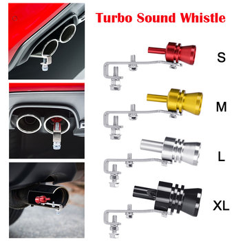 S-XL Size Motorbike Car Exhaust Fake Turbo Whistle Pipe Sound Muffler Blow Off Valve Universal Simulator Whistler 5 Colors - discount item  35% OFF Auto Replacement Parts