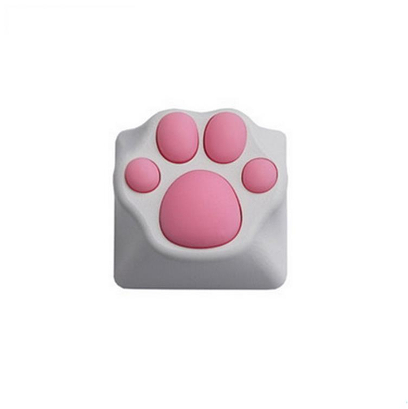 1pc Cute Cat Claw Plastic Keycap PBT Personality Cherry Switch Blossom Keycap For Mechanical Keyboard Pink Black