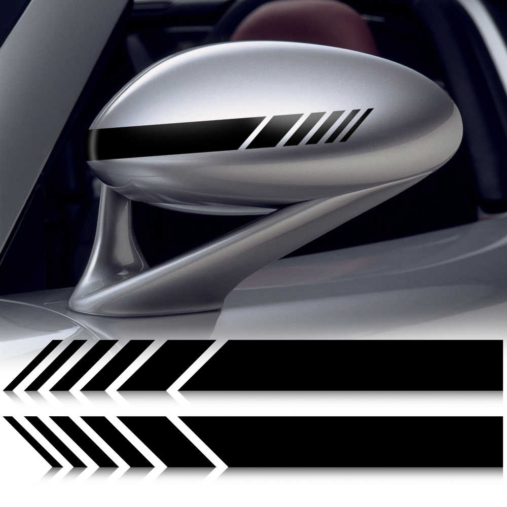 Car Stickers Vinyl Car-styling Rearview Mirror for radio 2 din android volvo v70 bmw e61 skoda rapid fiat bravo subaru