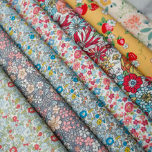 140x50cm Pastoral Floral Plain Cotton Fabric DIY Children's Wear Cloth Make Clothes Decoration Home Alibaba Express 150g/m(China)