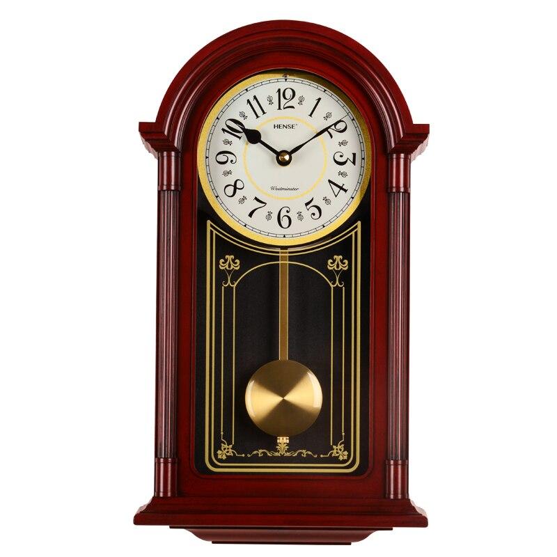 Large Wall Clock Vintage Living Room Nordic Retro Swing Pendulum Clock Wall Decor Antique Watch Mechanism Duvar Saatleri SC321