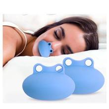 Frog Silicone Anti Snoring Tongue Retaining Device Snore Solution Sleep Breathing Apnea Night Guard Aid Stop Snore smart snore stopper anti snore ronco solution comfortable anti snoring biosensor with app and sleep apnea monitor cpap replacer