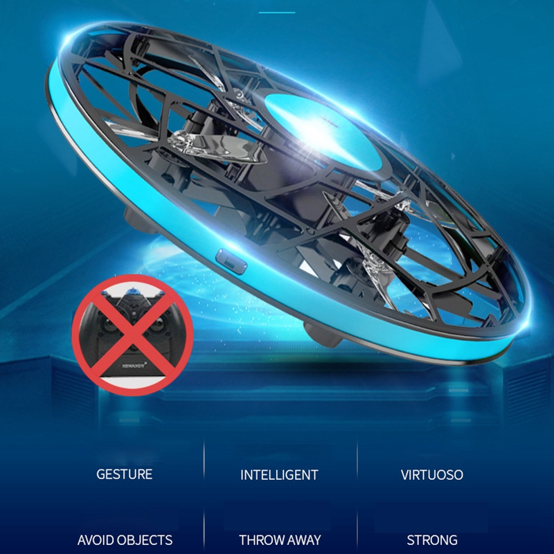 cheapest Anti-Collision Mini UFO RC Hand Drone Infrared Flying Helicopter Rotate Sensing Induction Drone Electronic Kids Toys