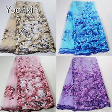 HOT lace embroidery african fabric flower collar Fabric Sewing Applique DIY ribbon trim cloth dress craft guipure decor